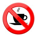 No coffee breaks - No coffee sign Royalty Free Stock Photo