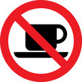 No coffee sign Royalty Free Stock Photo