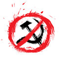 No communism symbol stop created in grunge style Royalty Free Stock Photos
