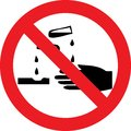 No corrosive substances sign Royalty Free Stock Photo