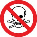 No deadly danger chemicals sign
