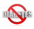 No diabetes sign illustration design over a white background Stock Photo
