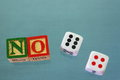 No dice! Royalty Free Stock Photo