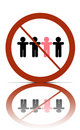 No different people sign Royalty Free Stock Photography