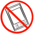 No digital devices allowed Royalty Free Stock Photo