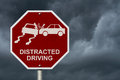 No Distracted Driving Sign Royalty Free Stock Photo