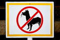 No dog allowed sign Royalty Free Stock Photo