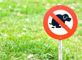 No dog excrements sign front yard Stock Images
