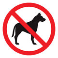 No dog sign vector illustration Stock Photos