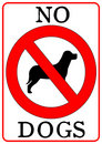 No Dogs Sign Stock Image