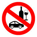 No drink and drive vector sign Stock Photo