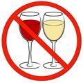 No drinking allowed Stock Photos