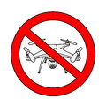 No Drone Area Sign