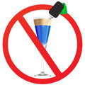 No drunk driving vector illustration Royalty Free Stock Photo