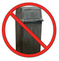 No dumping garbage Royalty Free Stock Photos
