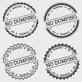 No dumping insignia stamp isolated on white.
