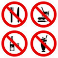 No eating and drinking signs Royalty Free Stock Photo
