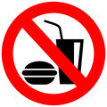 No eating vector sign Royalty Free Stock Image