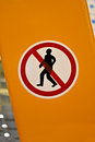 No entrance red sign with man silhouette, Royalty Free Stock Images