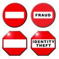 No entry fraud identity theft symbol Stock Photography