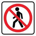 No Entry icon Royalty Free Stock Photo