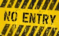 No entry sign,