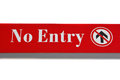 No entry sign symbol and message Stock Image