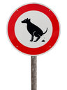 No exhaust place for dogs sign against white background Stock Photography