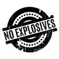 No Explosives rubber stamp