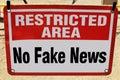 No Fake News. Royalty Free Stock Photo
