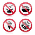 No fast food, no sweets warning red sign Royalty Free Stock Photos