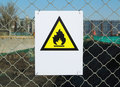 No fire sign in the metal plate Royalty Free Stock Images