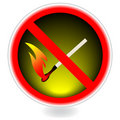 No fire sign. Vector Stock Photography