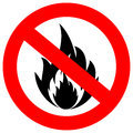 No fire vector sign Royalty Free Stock Photos
