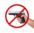 No firearms allowed gun free zone banned permitted by law Stock Photos