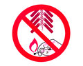 No fireworks sign Royalty Free Stock Photography