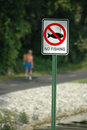 No fishin sign at the park Royalty Free Stock Images