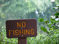 No Fishing Royalty Free Stock Photos