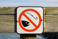 No fishing sign Royalty Free Stock Photos