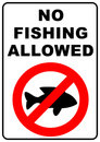 No Fishing Sign Royalty Free Stock Images