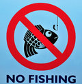 No Fishing Sign Stock Photos