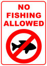 No fishing sign Stock Photo
