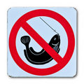 No fishing warning sign Royalty Free Stock Images