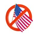 No flag USA icon Stock Photography