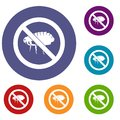No flea sign icons set