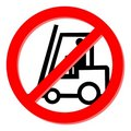 No forklift truck Royalty Free Stock Images