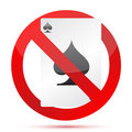 No gambling sign illustration design Stock Photography