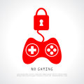 No gaming vector poster illustration Stock Photography