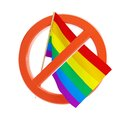 No gay and lesbian flag Royalty Free Stock Image