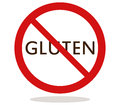 No gluten illustrated and colored